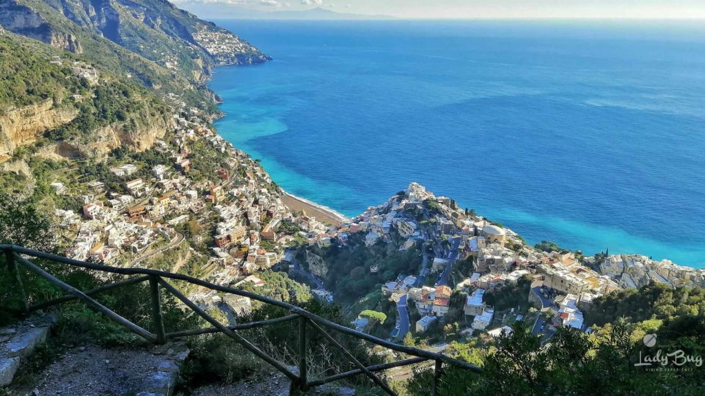 Positano from Tese di San Giuseppe Path